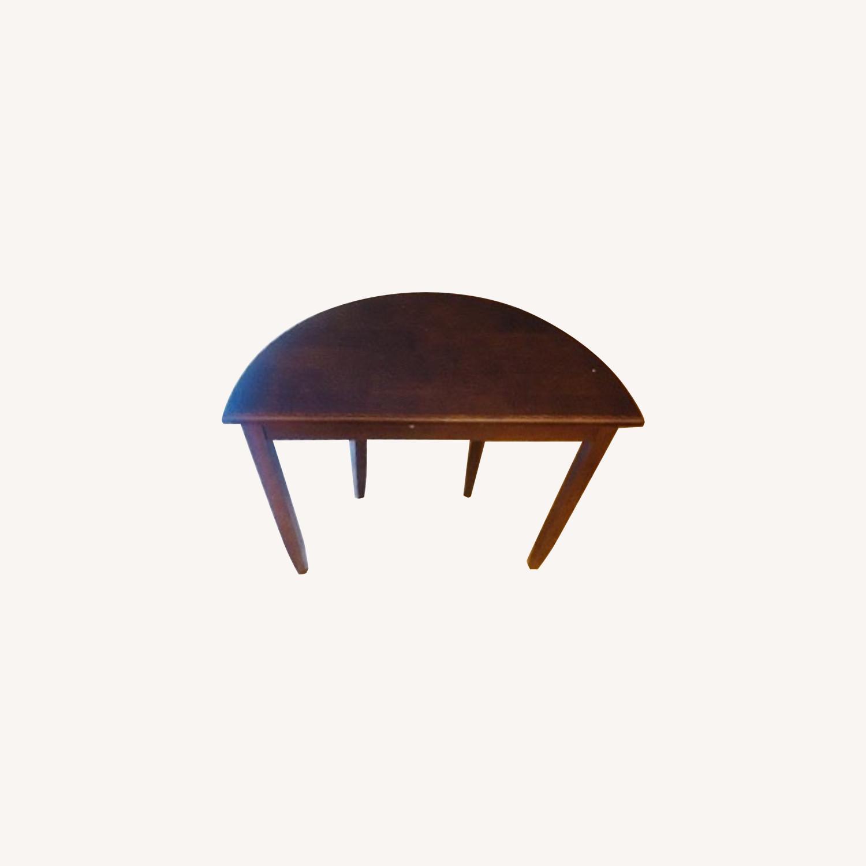 Oak Vintage Crescent Console Table - image-0