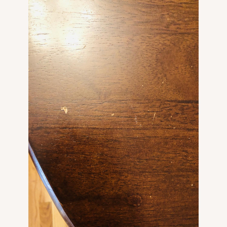 Oak Vintage Crescent Console Table - image-4