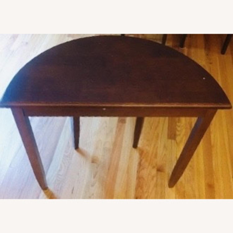 Oak Vintage Crescent Console Table - image-2