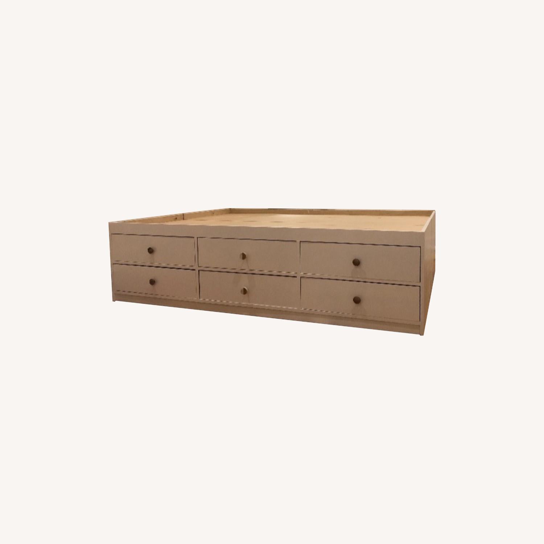 Custom Full Size Platform Storage Bed - image-0
