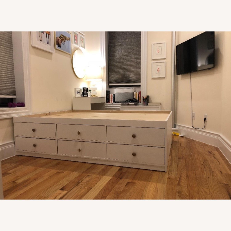 Custom Full Size Platform Storage Bed - image-1
