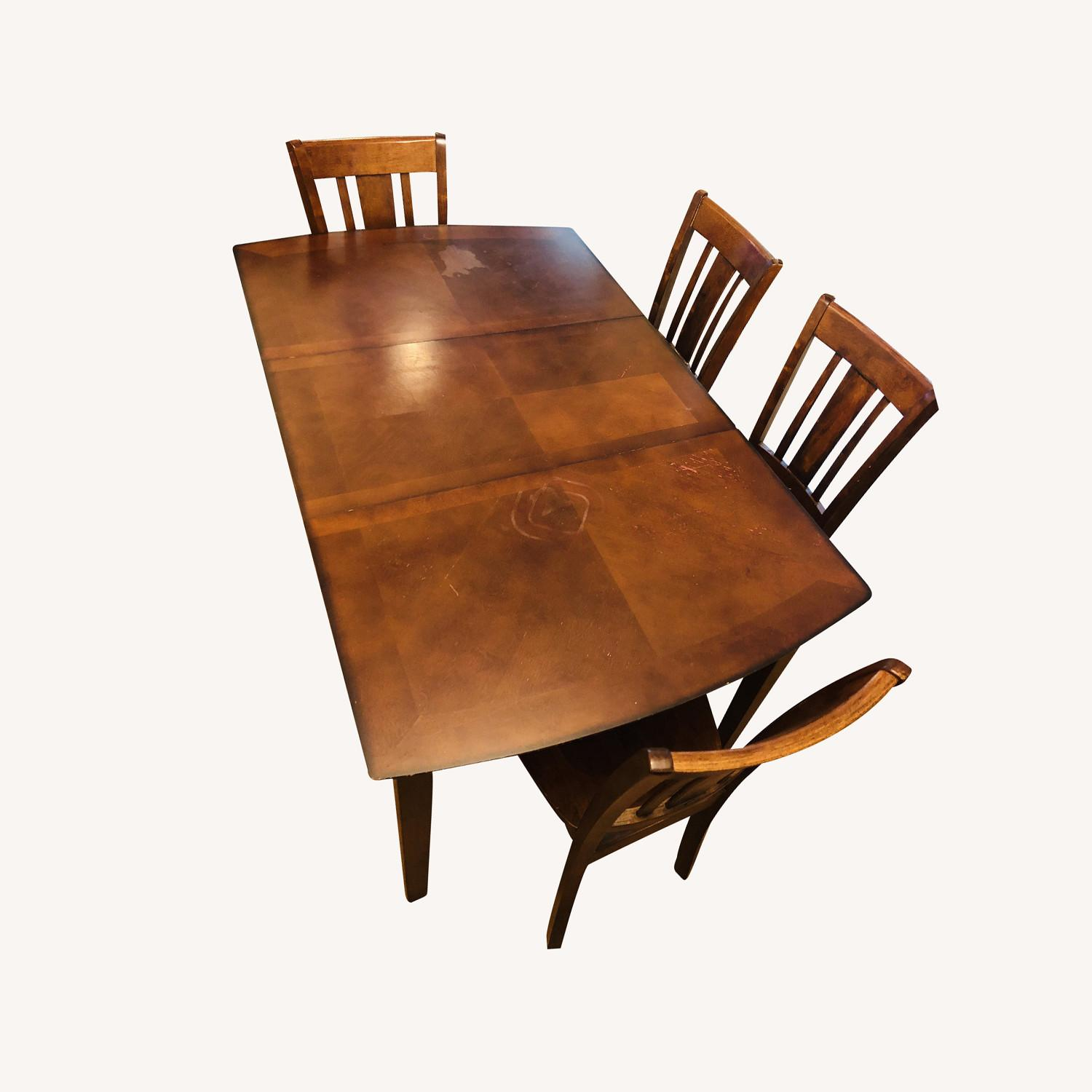 Vintage Dining Set (Incl 4 Chairs + Ext) - image-0