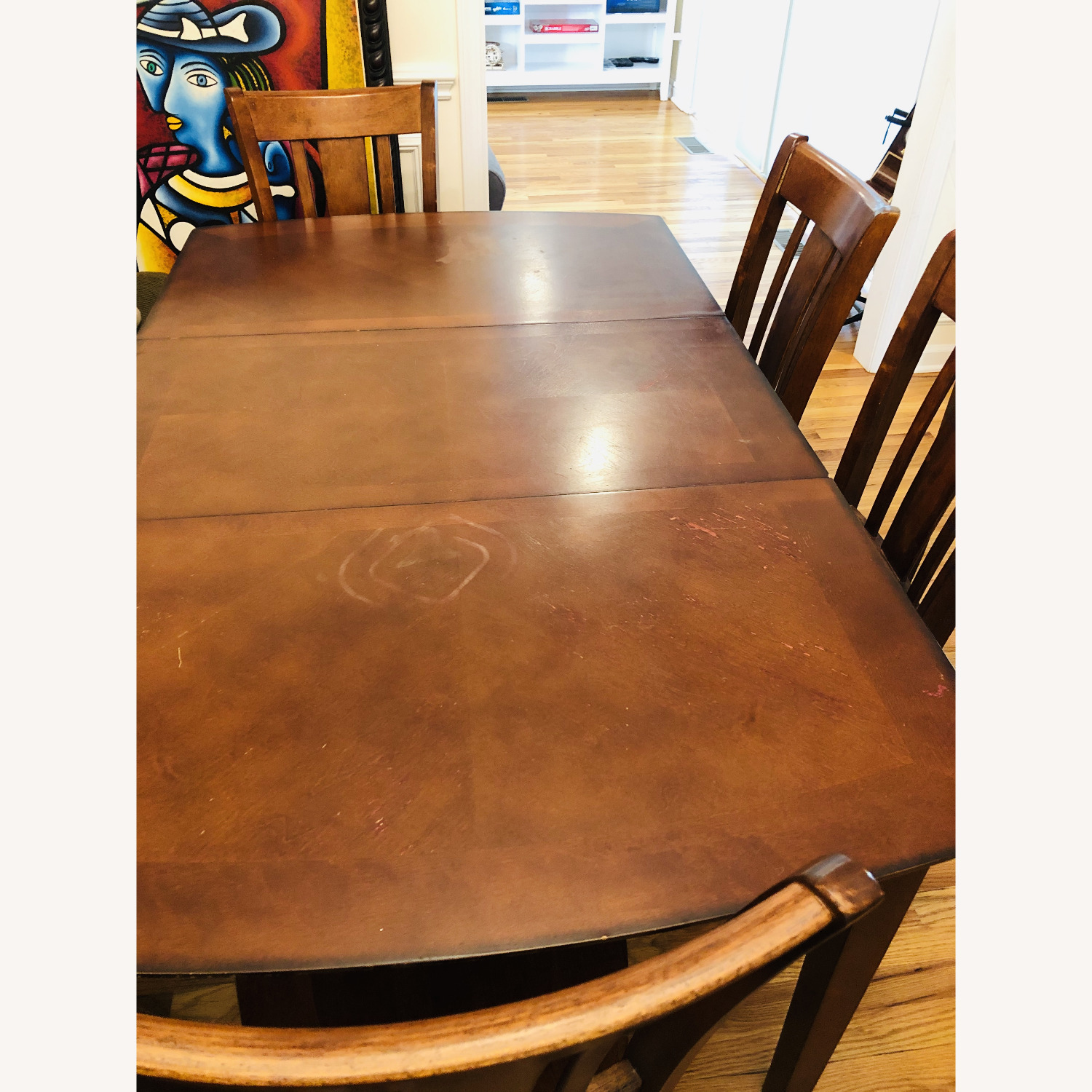 Vintage Dining Set (Incl 4 Chairs + Ext) - image-3