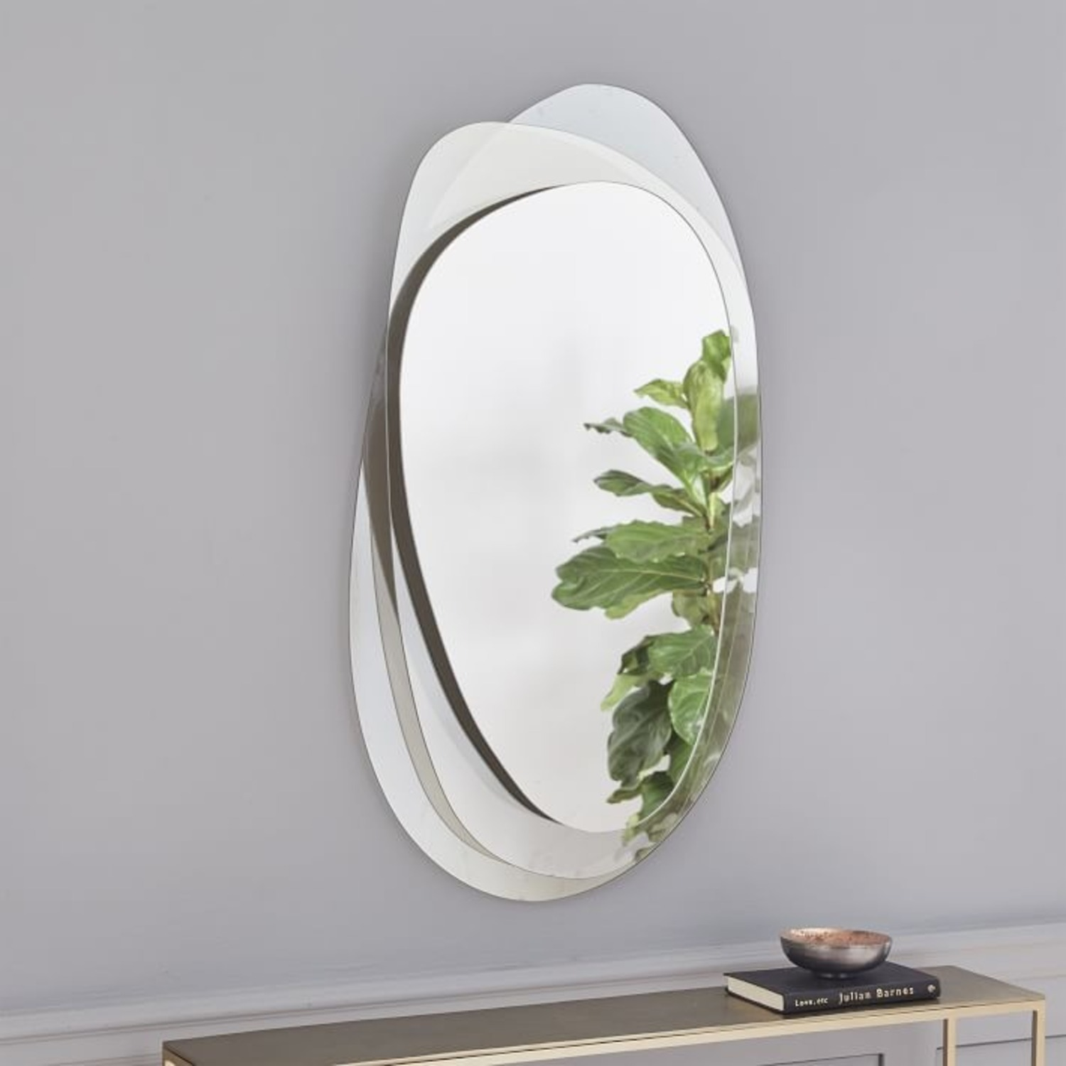 West Elm Layered Glass Wall Mirror - image-1