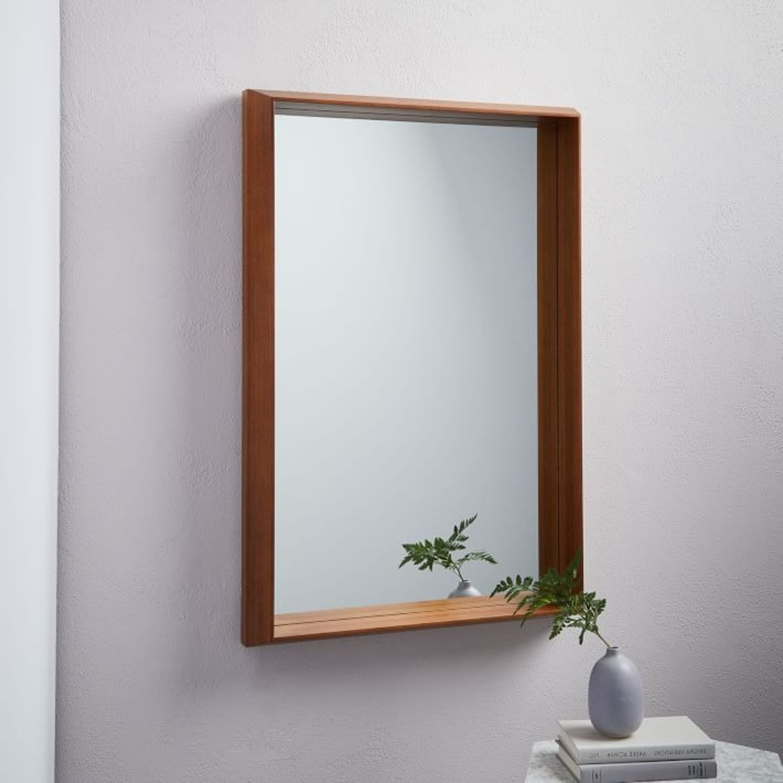 West Elm Wood Frame Ledge Wall Mirror - image-1