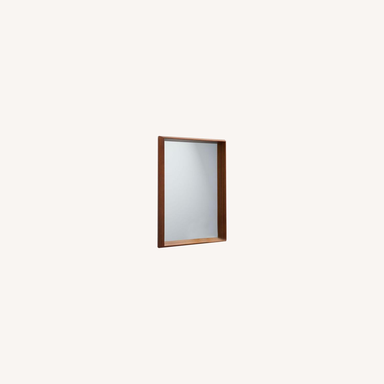 West Elm Wood Frame Ledge Wall Mirror - image-0
