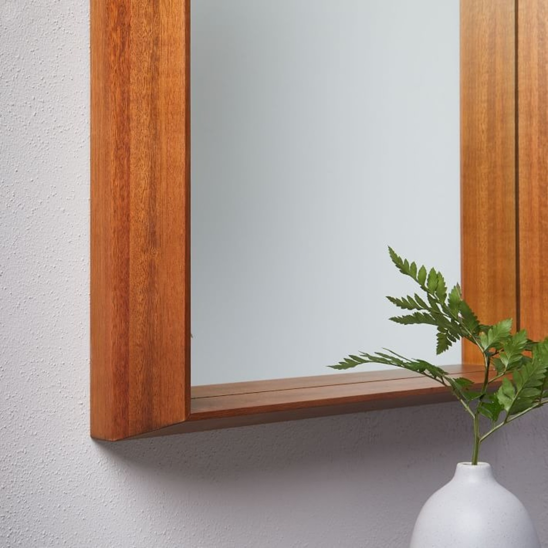 West Elm Wood Frame Ledge Wall Mirror - image-3