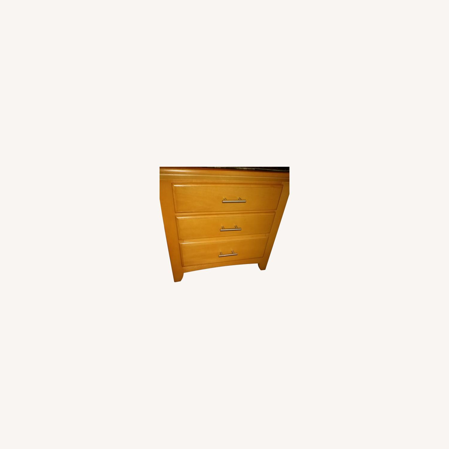 Solid Wood 2-Drawer Nightstand - image-0