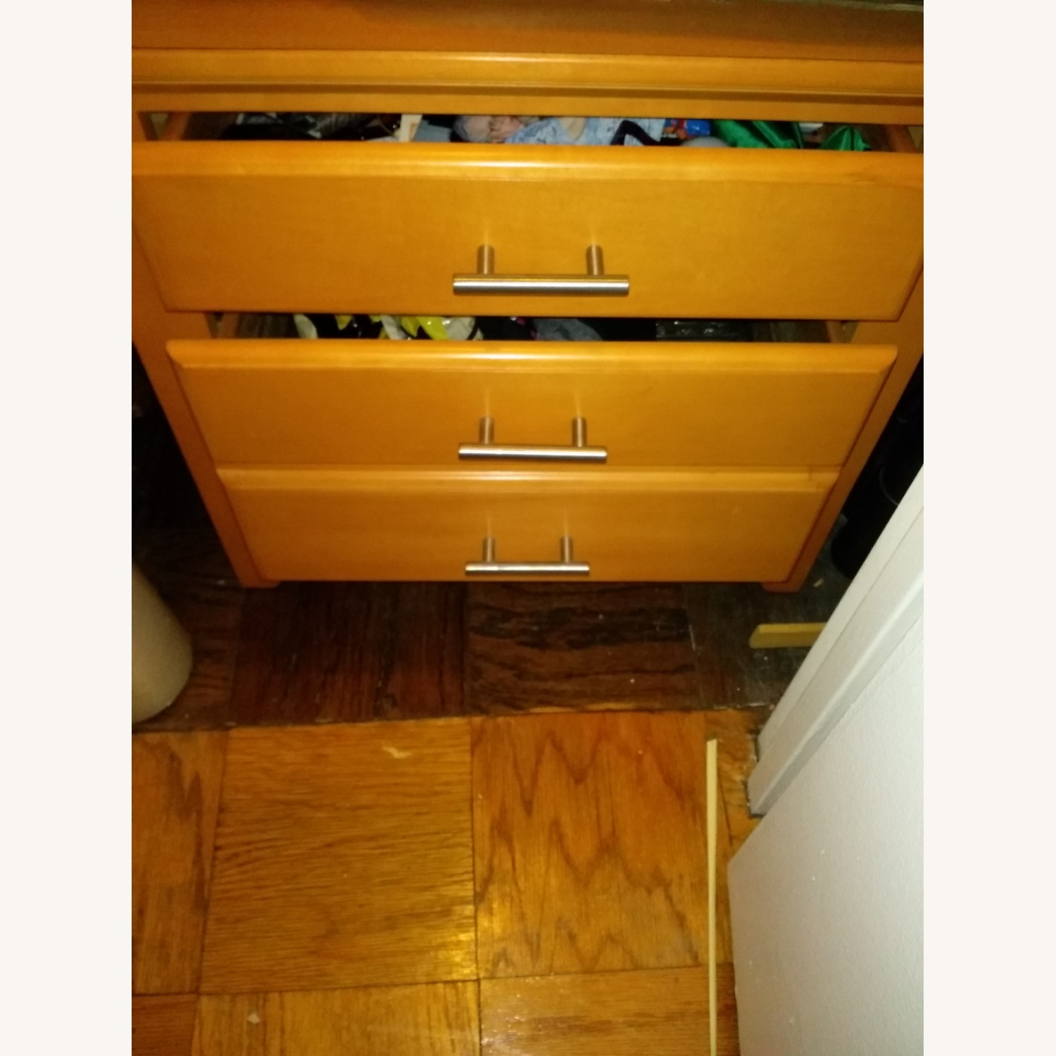 Solid Wood 2-Drawer Nightstand - image-2