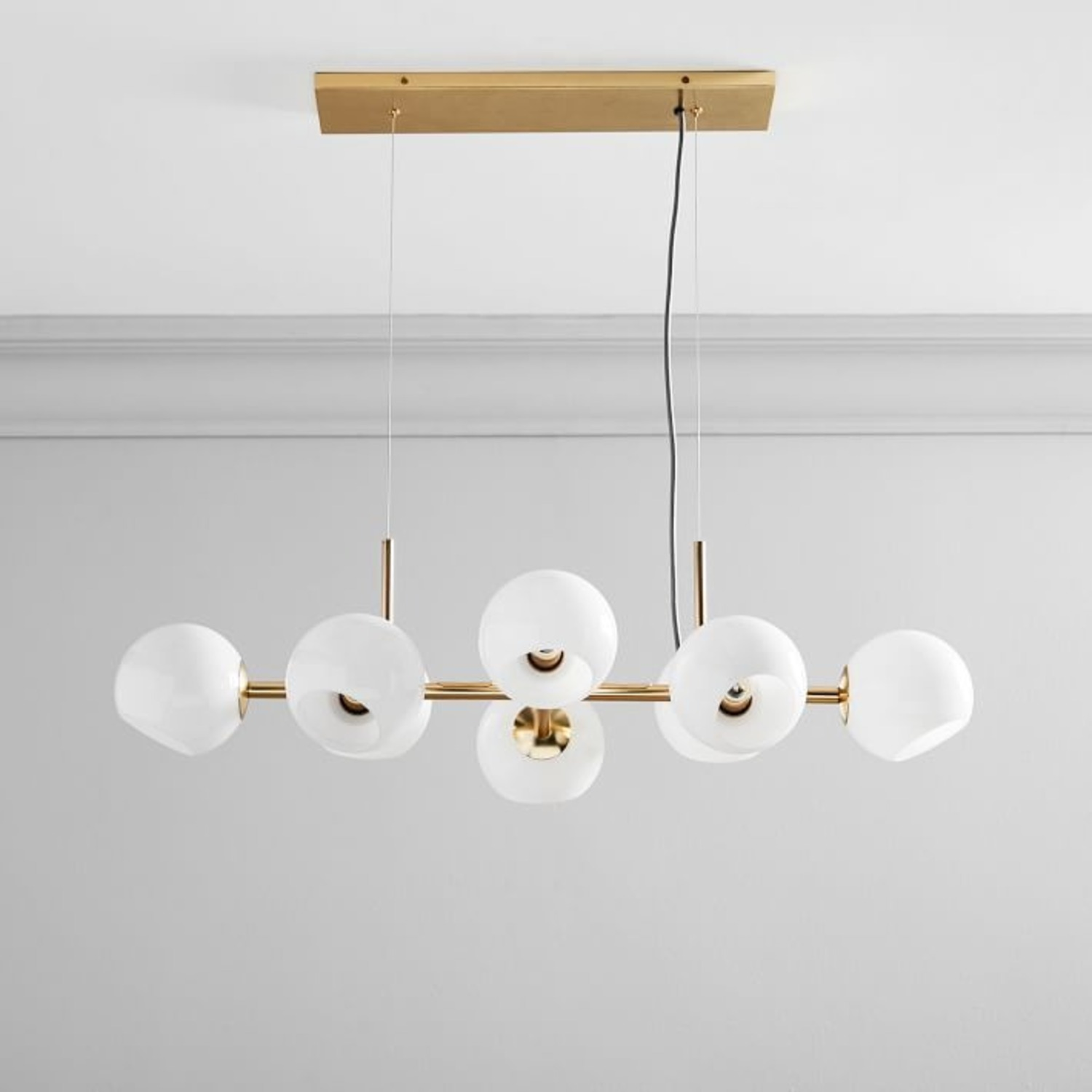 West Elm Staggered Glass Chandelier - image-1