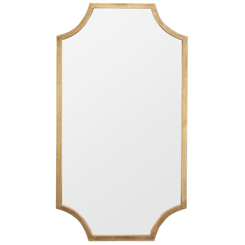 West Elm Scalloped Edge Mirror, Gold - image-1