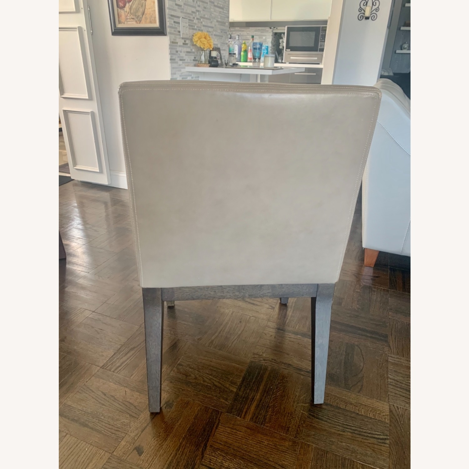 West Elm Dining Table + 4 Leather Chairs - image-8
