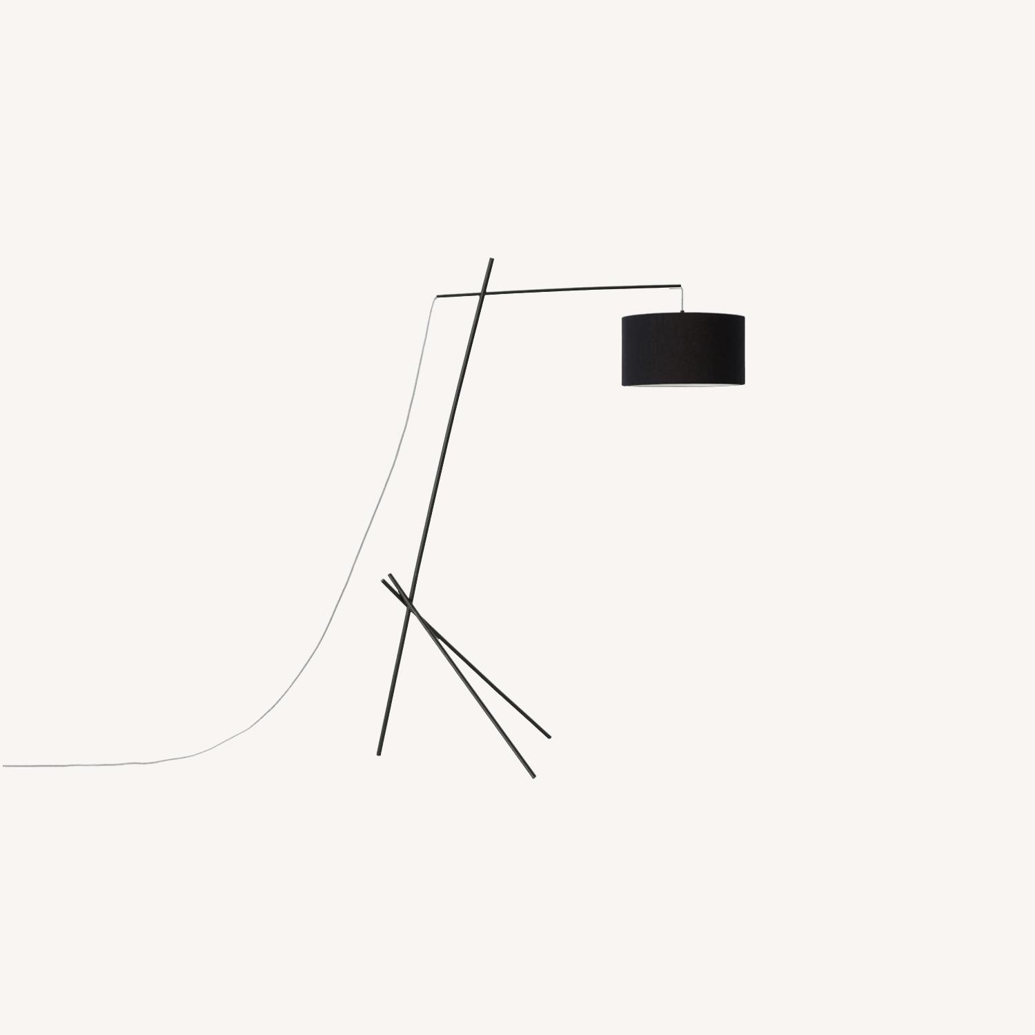 EQ 3 Arvid Floor Lamp - Black/Black - image-0