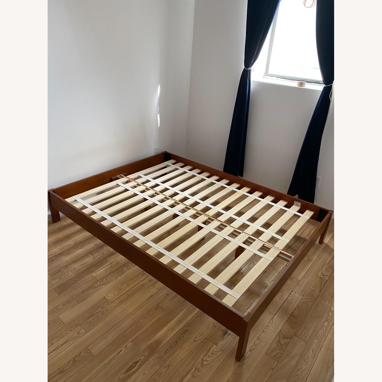 West Elm Simple Bed Frame Queen - Acorn - image-1