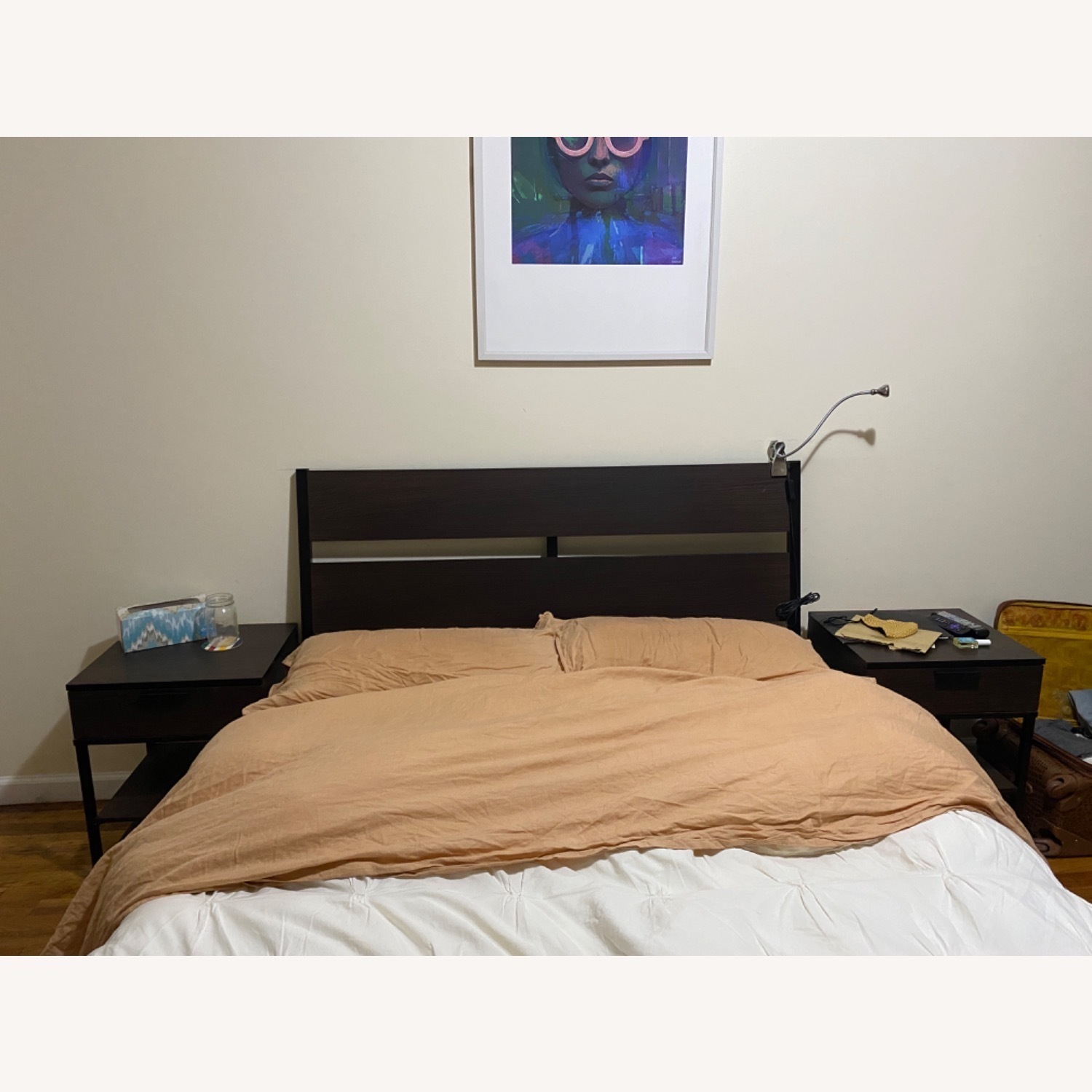 IKEA Trysil Full Size Bed with Light Stands - image-2