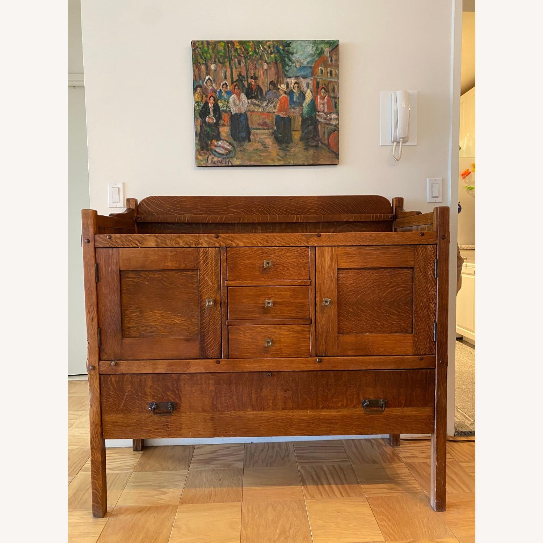 Mission Stye Arts and Crafts Oak Buffet - image-1
