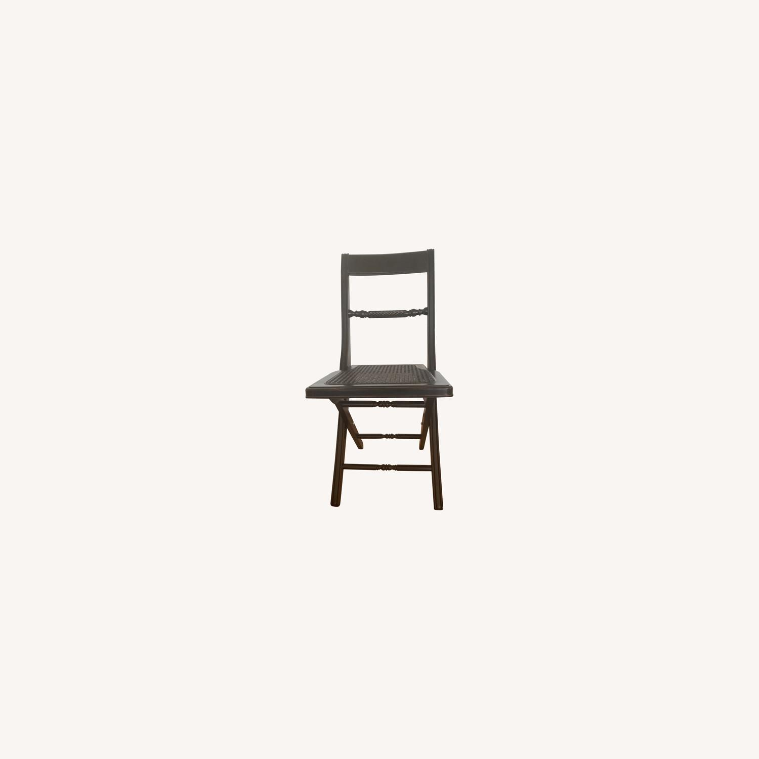 Folding Banquet Chairs with Wicker Seat - Set of 4 - image-0