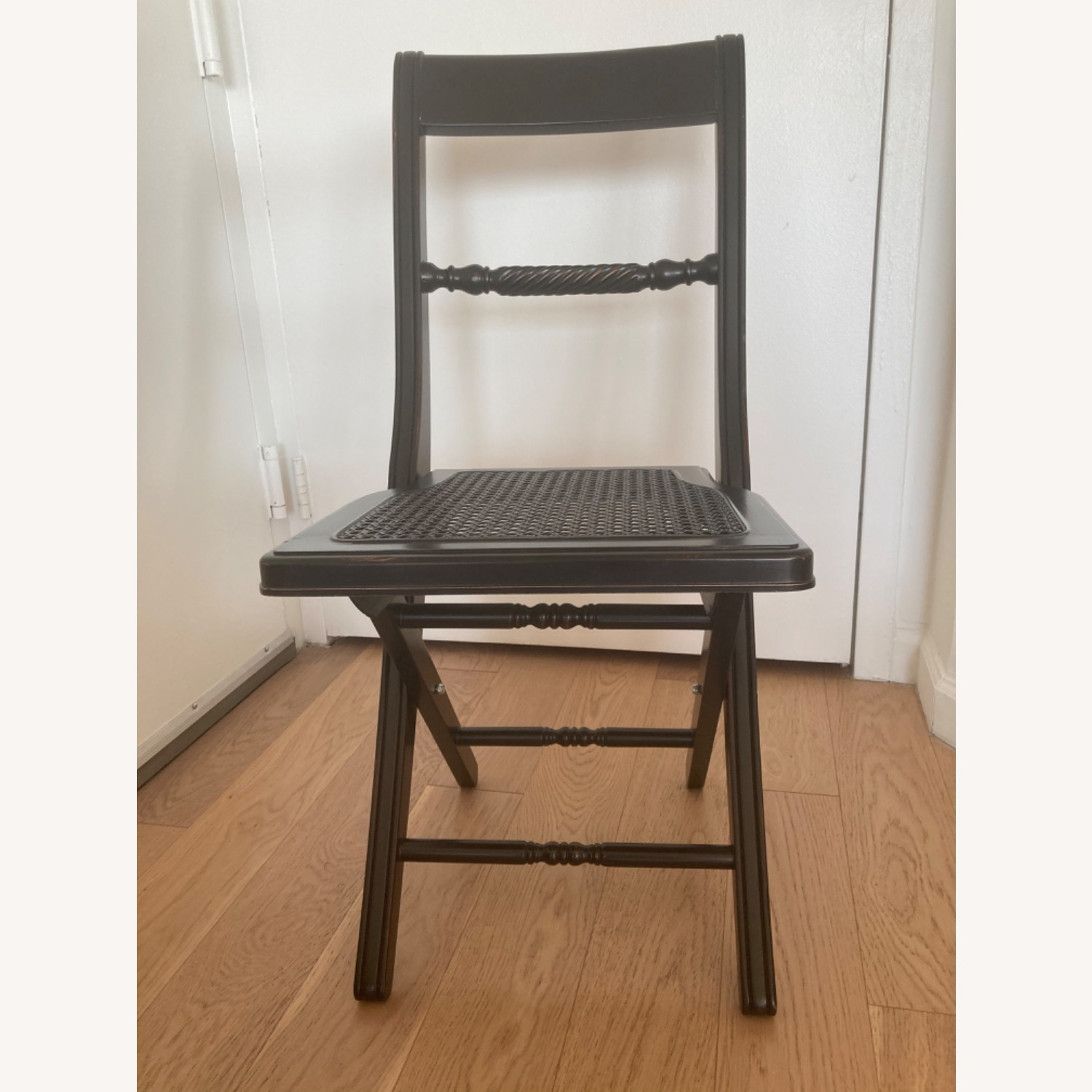 Folding Banquet Chairs with Wicker Seat - Set of 4 - image-3