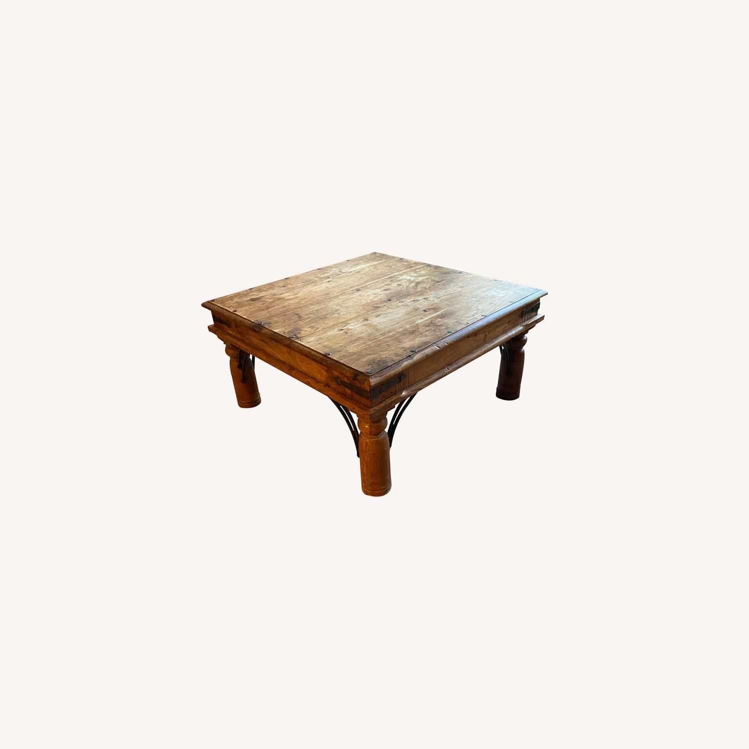Solid Oak Square Coffee Table - image-0