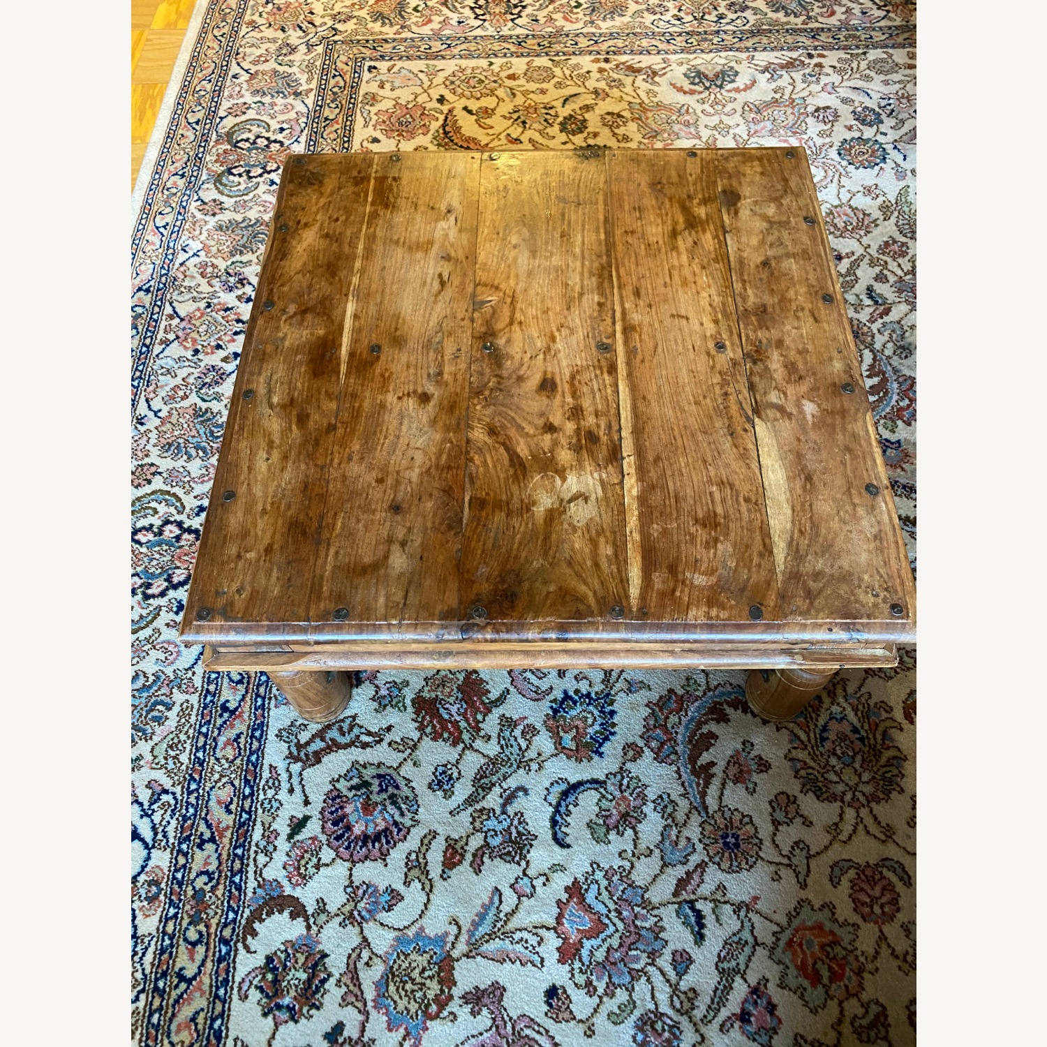 Solid Oak Square Coffee Table - image-3