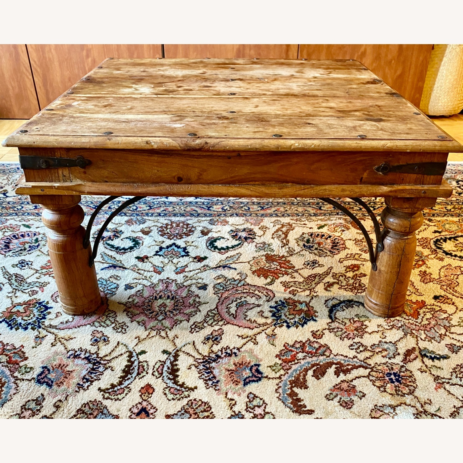 Solid Oak Square Coffee Table - image-2