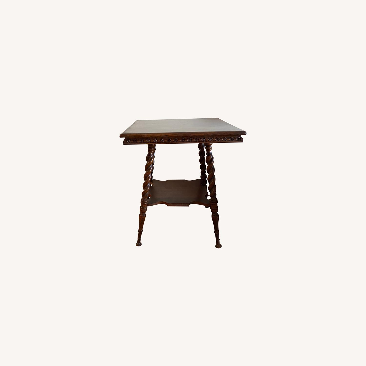 Square Solid Oak Side Table - image-0