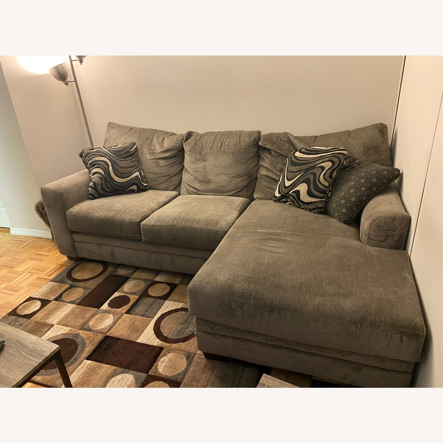 2 Piece Left Arm Facing Sectional with Chaise - image-1