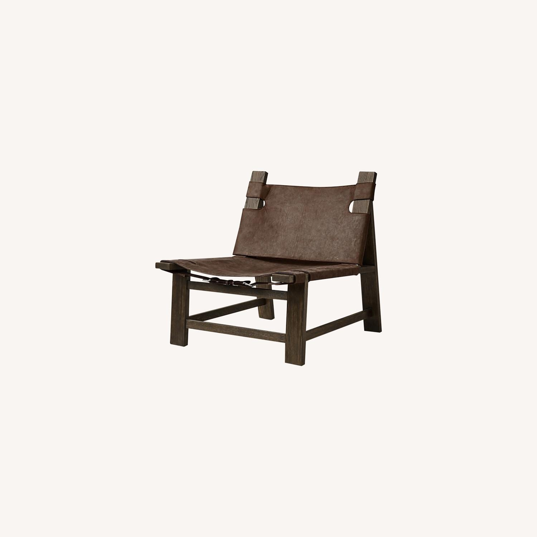 Restoration Hardware Soren Leather Chair - image-0