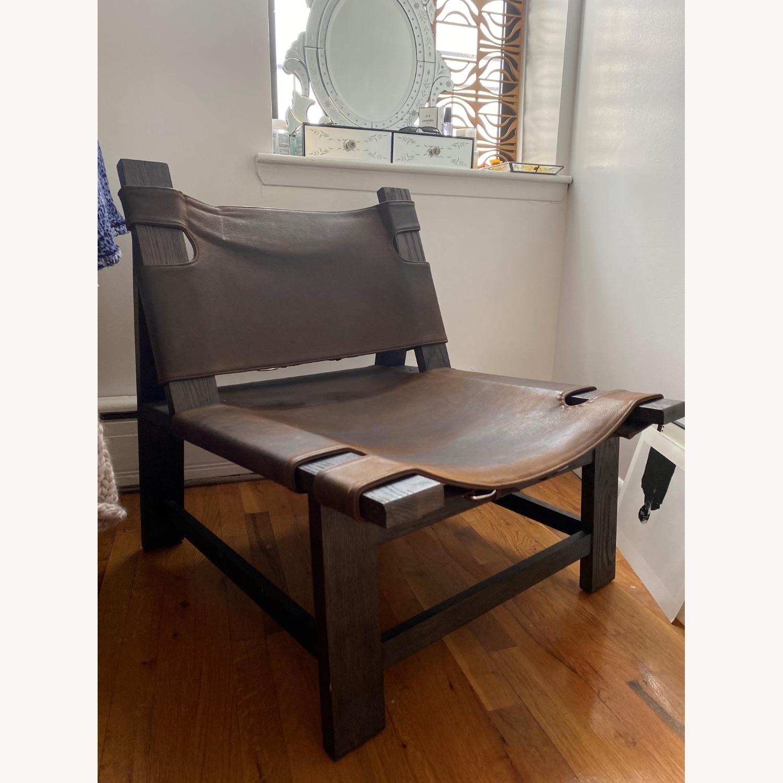 Restoration Hardware Soren Leather Chair - image-2