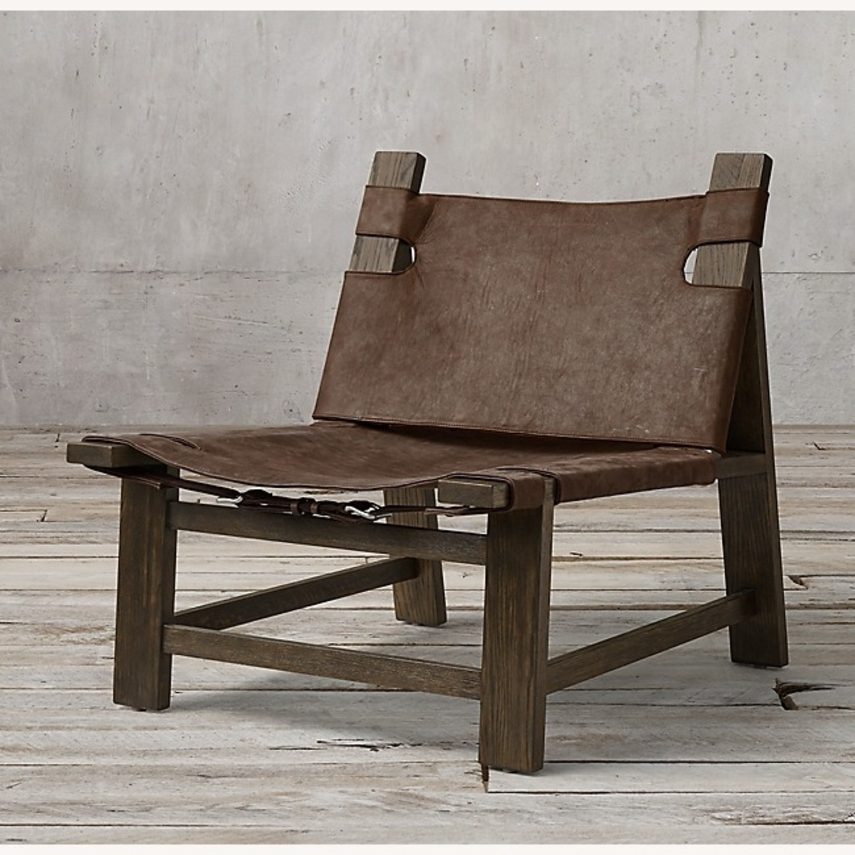 Restoration Hardware Soren Leather Chair - image-1