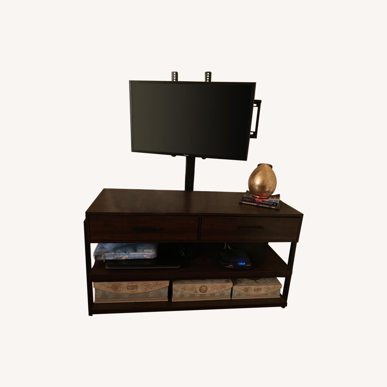 Target Espresso TV Stand with Storage - image-0