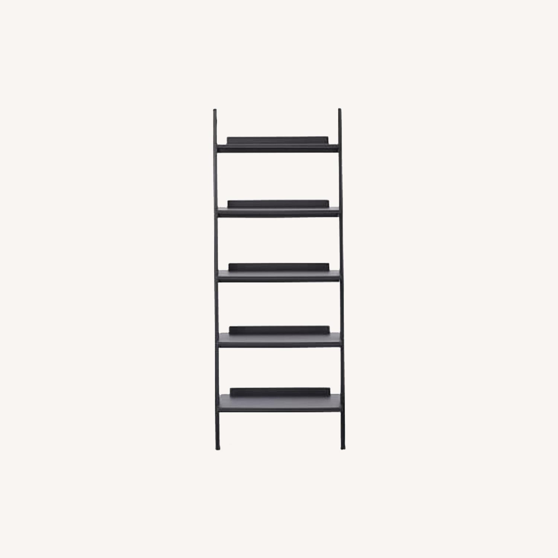 West Elm Leaning Bookcase - image-0