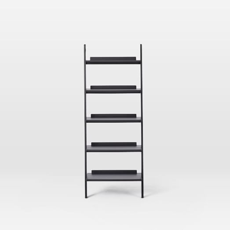 West Elm Leaning Bookcase - image-1