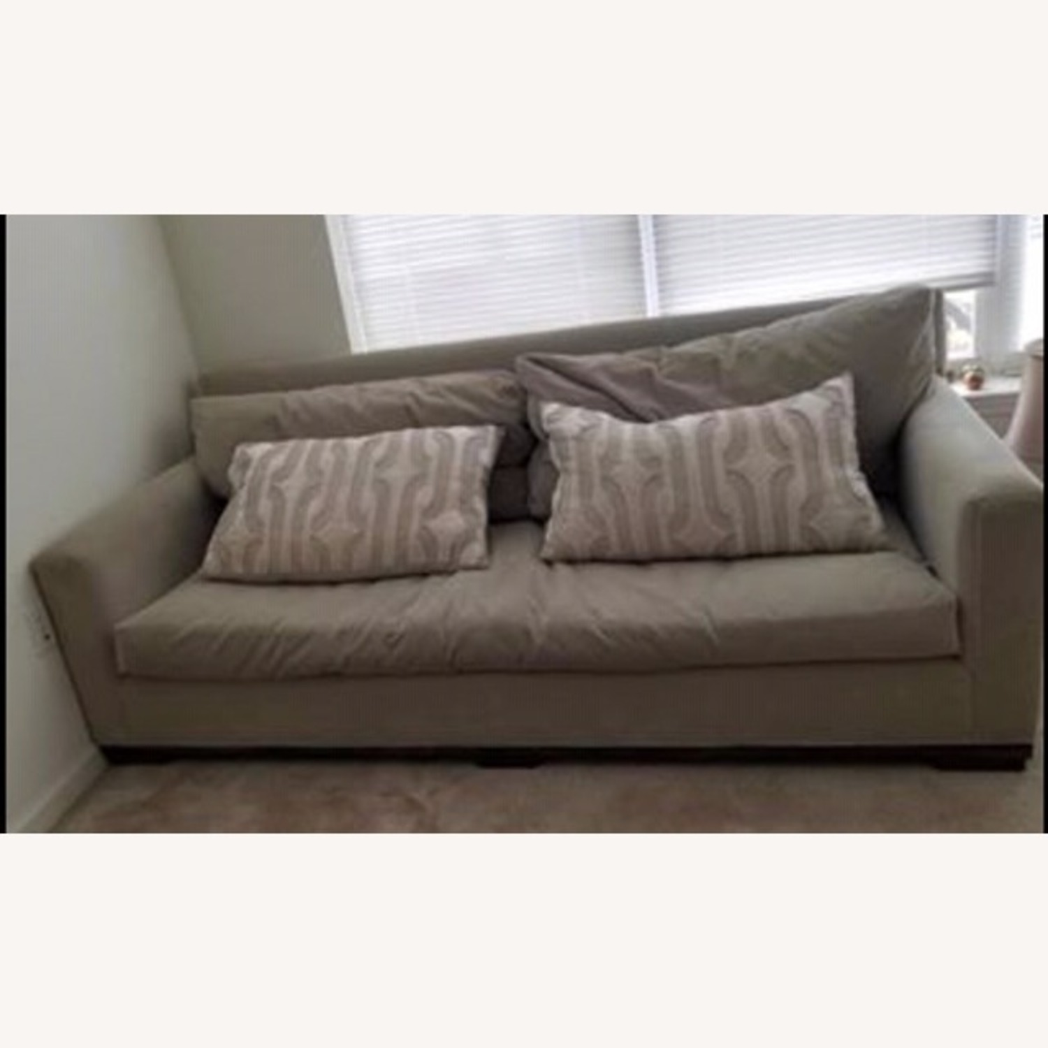 Taylor Made Custom Grey Couch w Wood Legs. - image-2