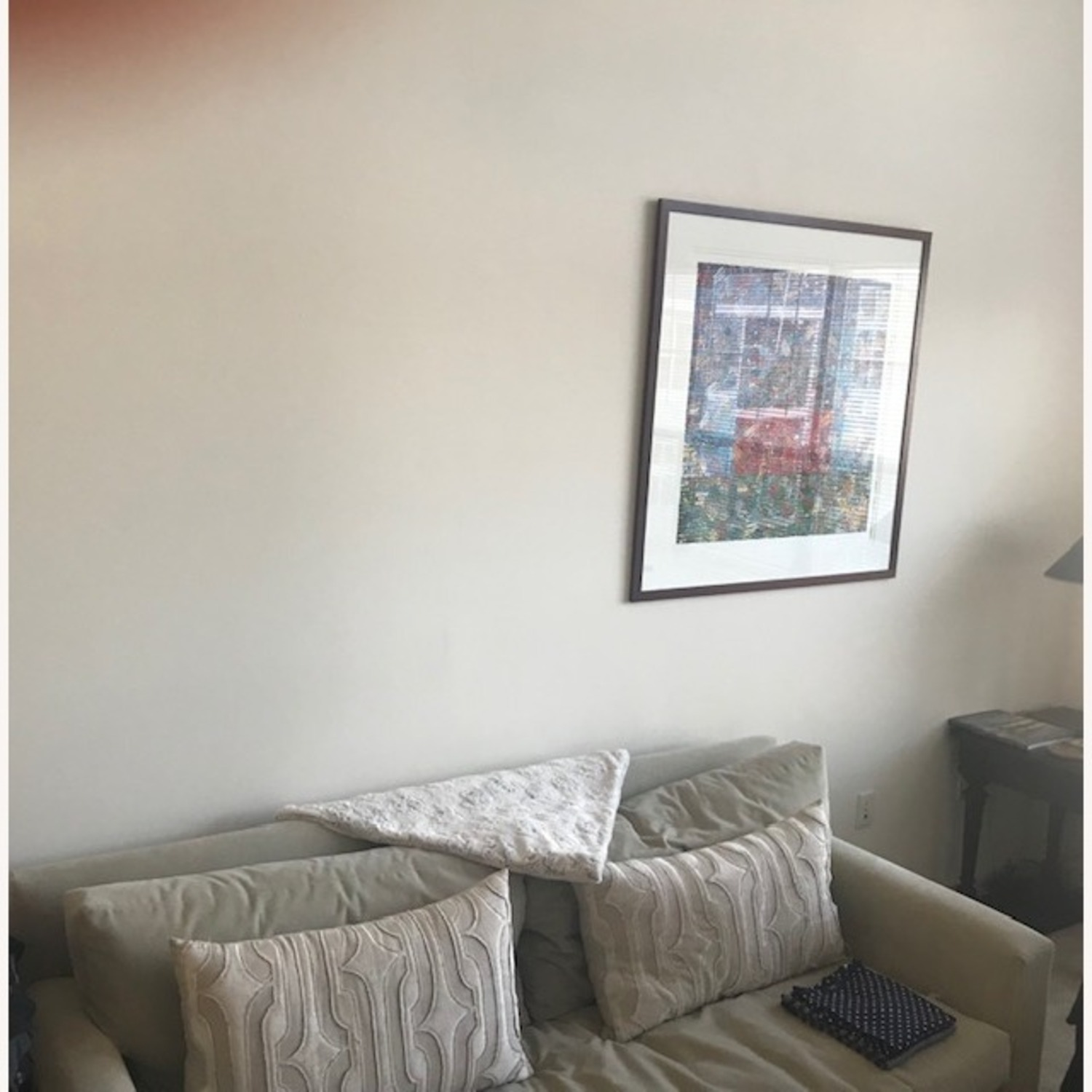 Taylor Made Custom Grey Couch w Wood Legs. - image-3