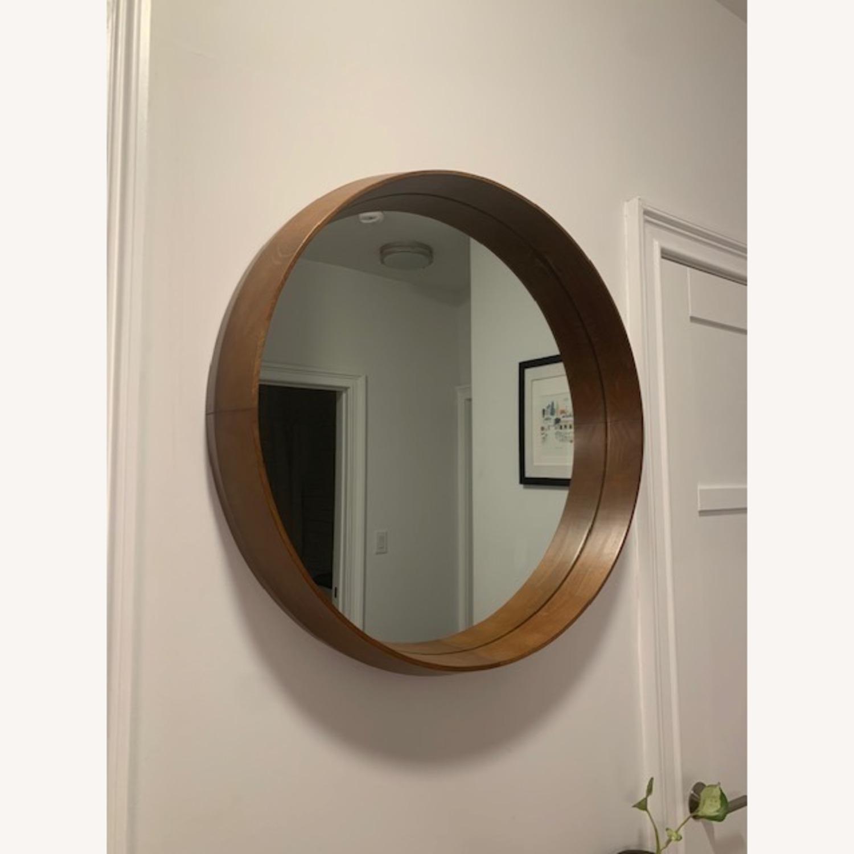 West Elm Wood Frame Wall Mirror - image-3