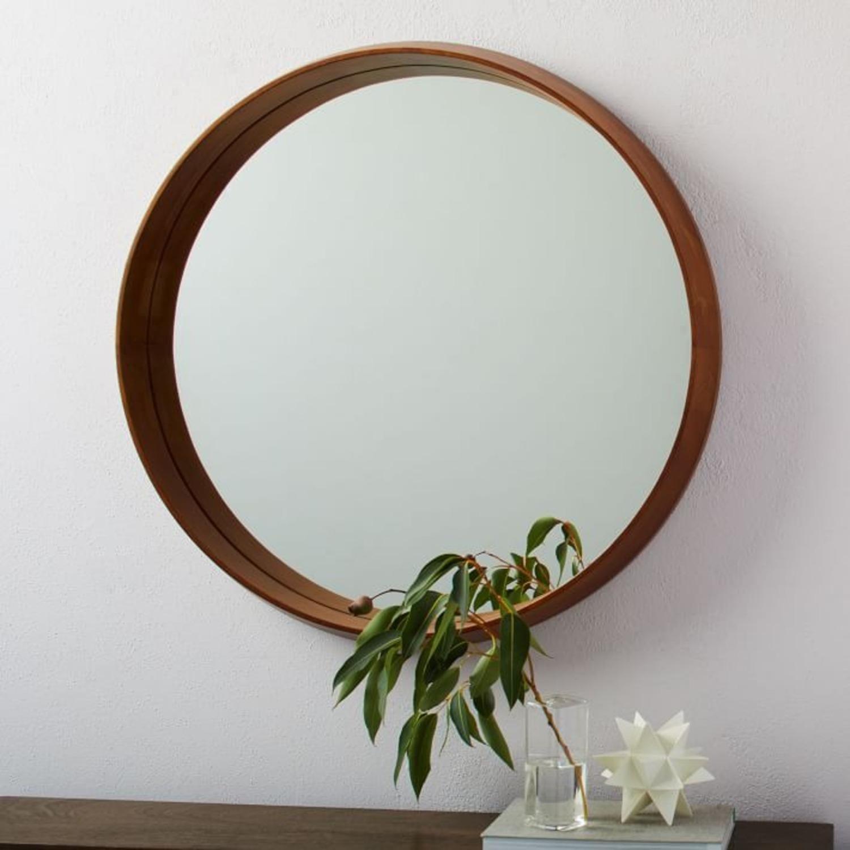 West Elm Wood Frame Wall Mirror - image-1