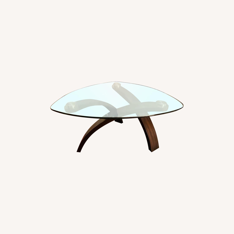 Asymmetrical Glass Coffee Table - image-0