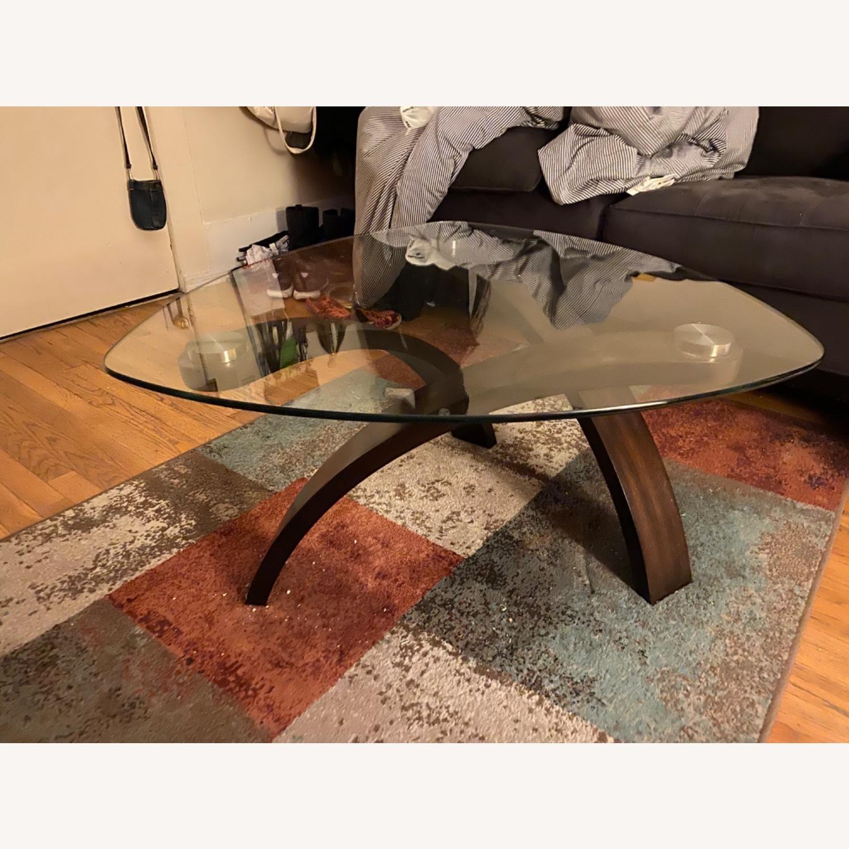 Asymmetrical Glass Coffee Table - image-1