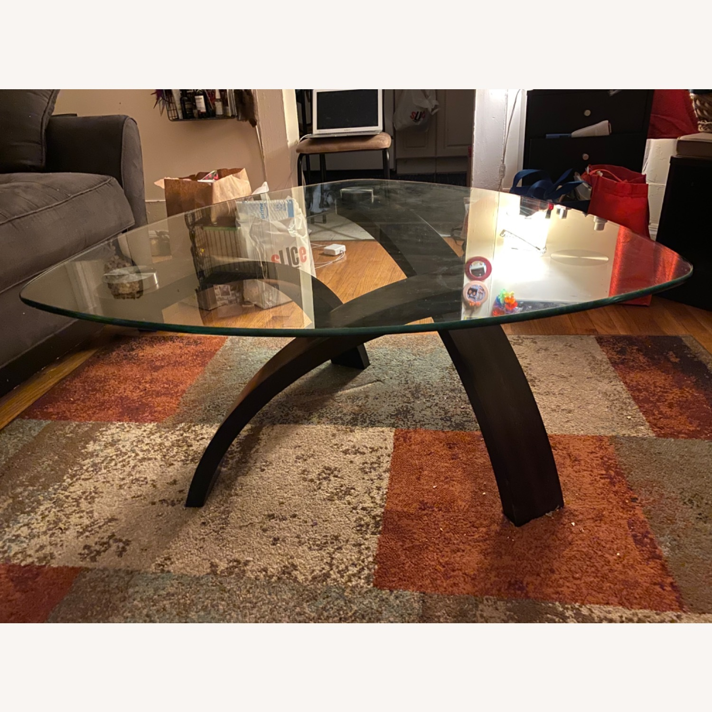 Asymmetrical Glass Coffee Table - image-3