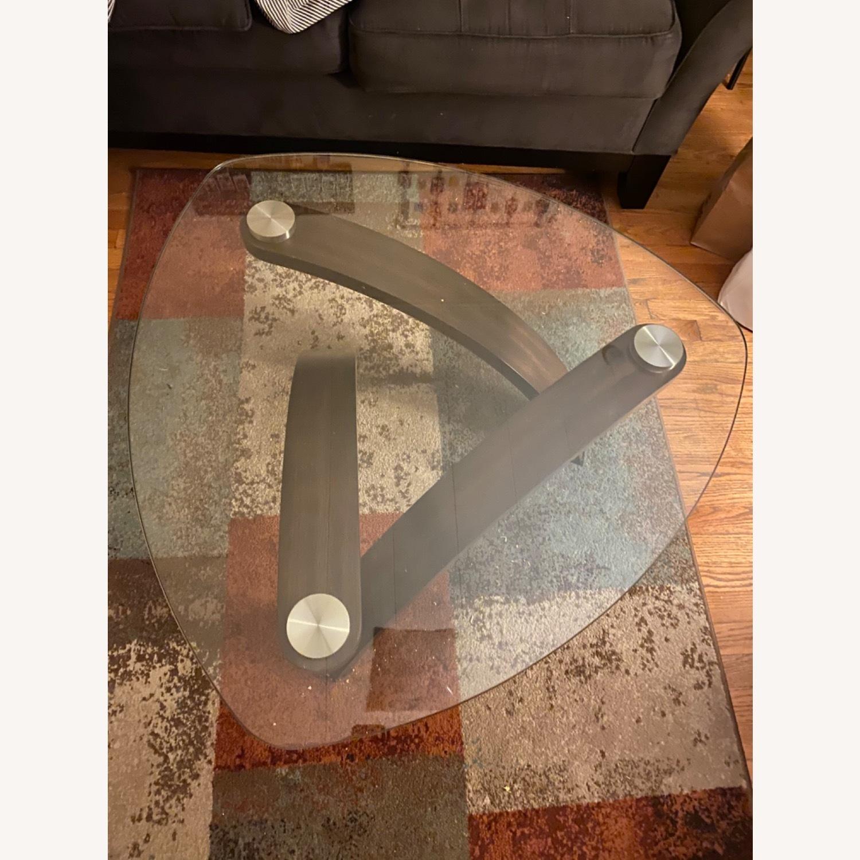 Asymmetrical Glass Coffee Table - image-2