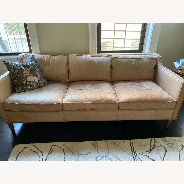 West Elm Hamilton Leather Sofa - image-3