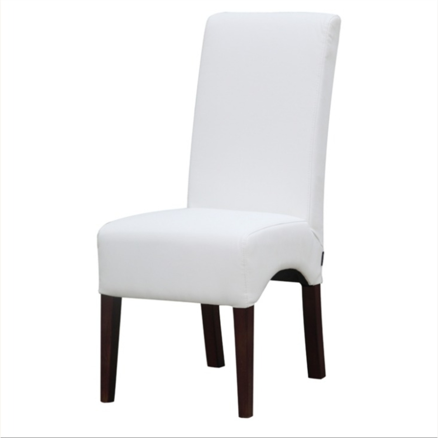 Modern Dining Chair In White PU Leather - image-4