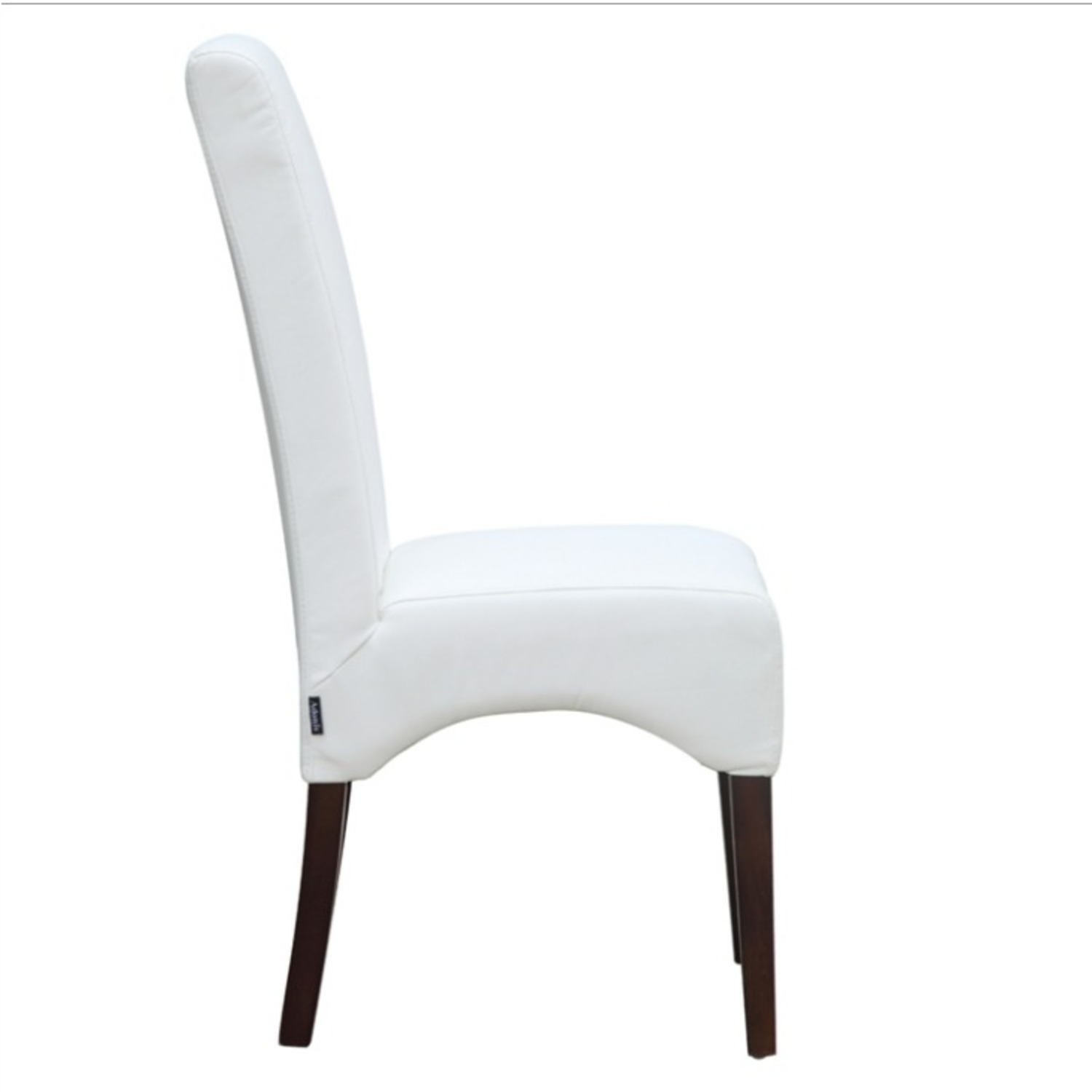 Modern Dining Chair In White PU Leather - image-1