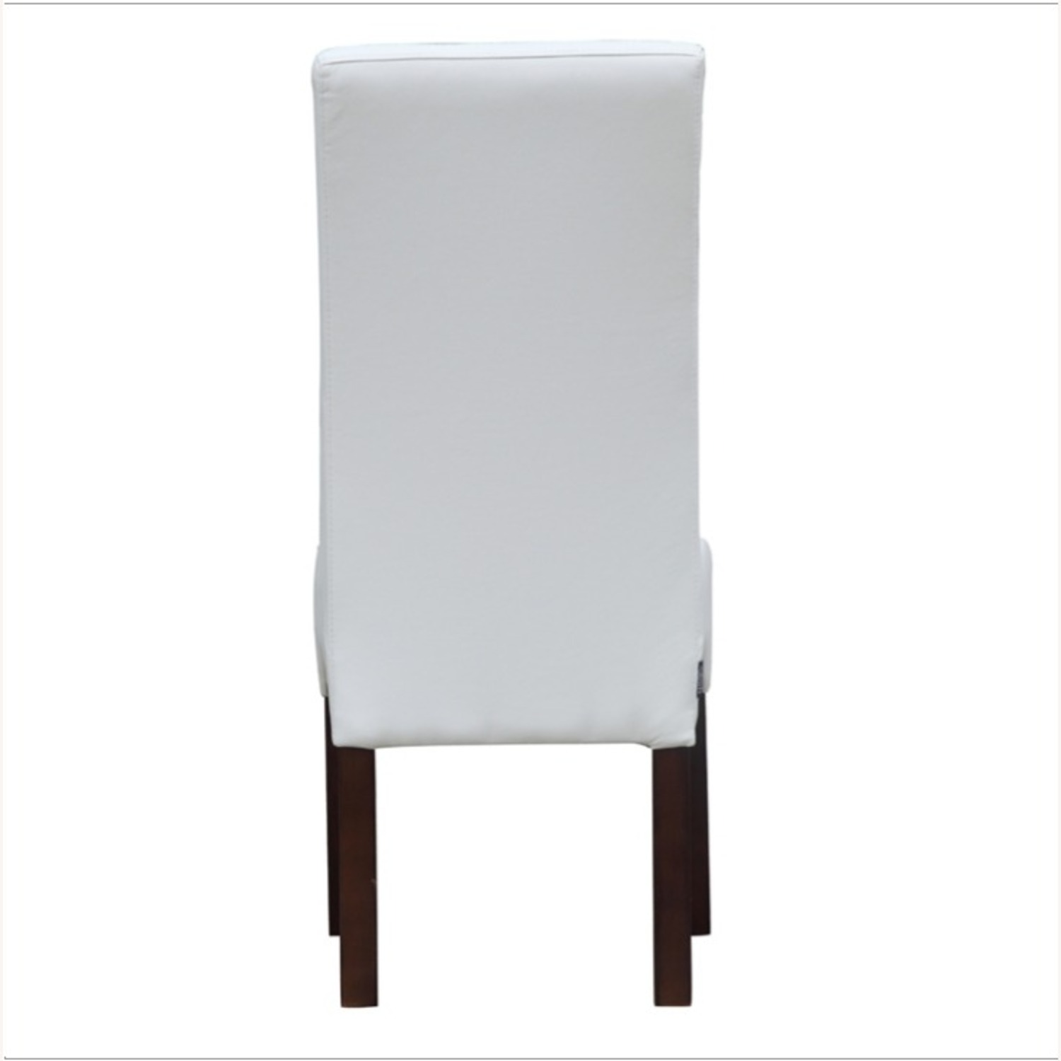 Modern Dining Chair In White PU Leather - image-2
