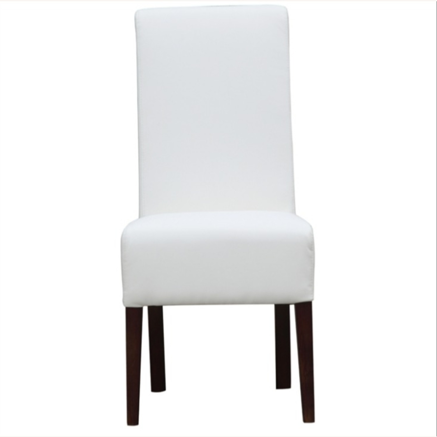Modern Dining Chair In White PU Leather - image-5