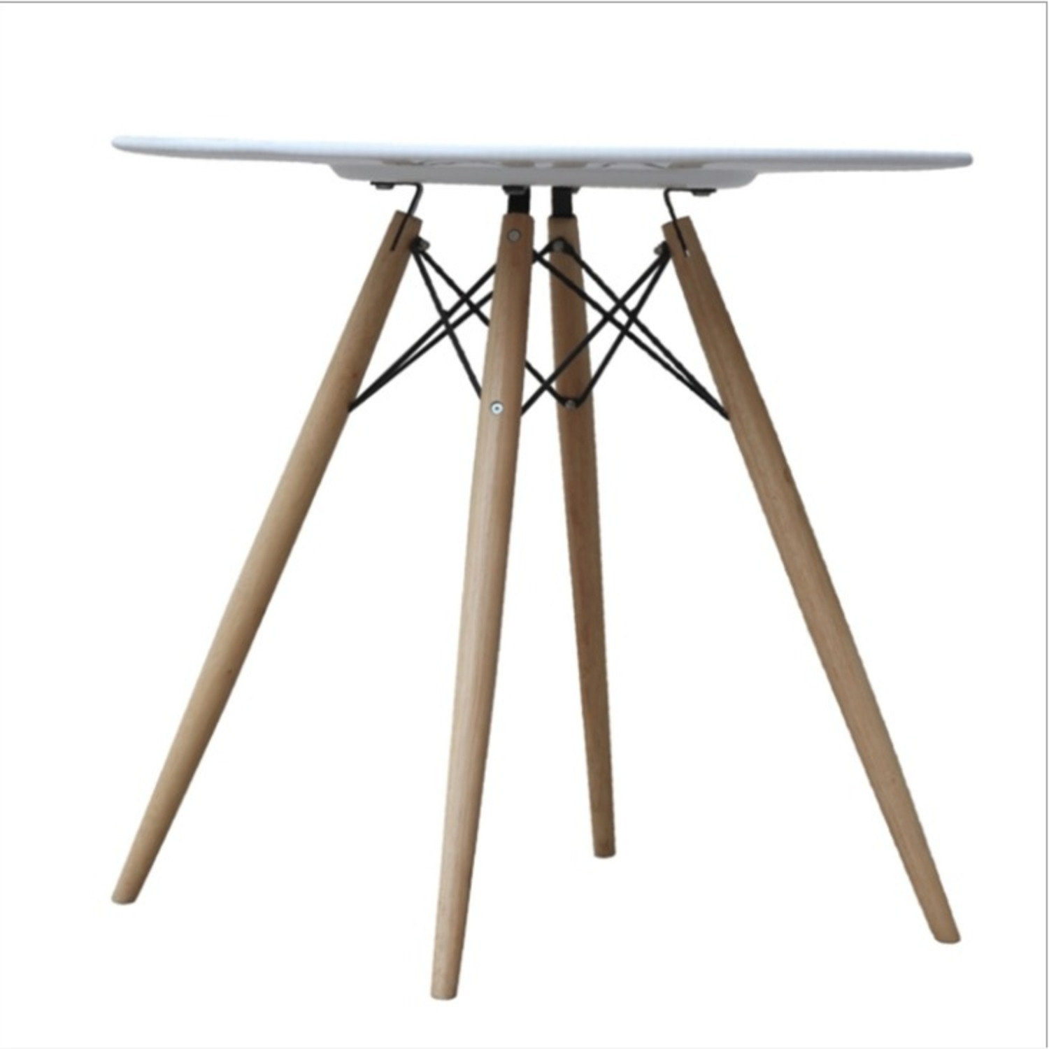 """48"""" Dining Table In White W/ Fiberglass Top - image-2"""