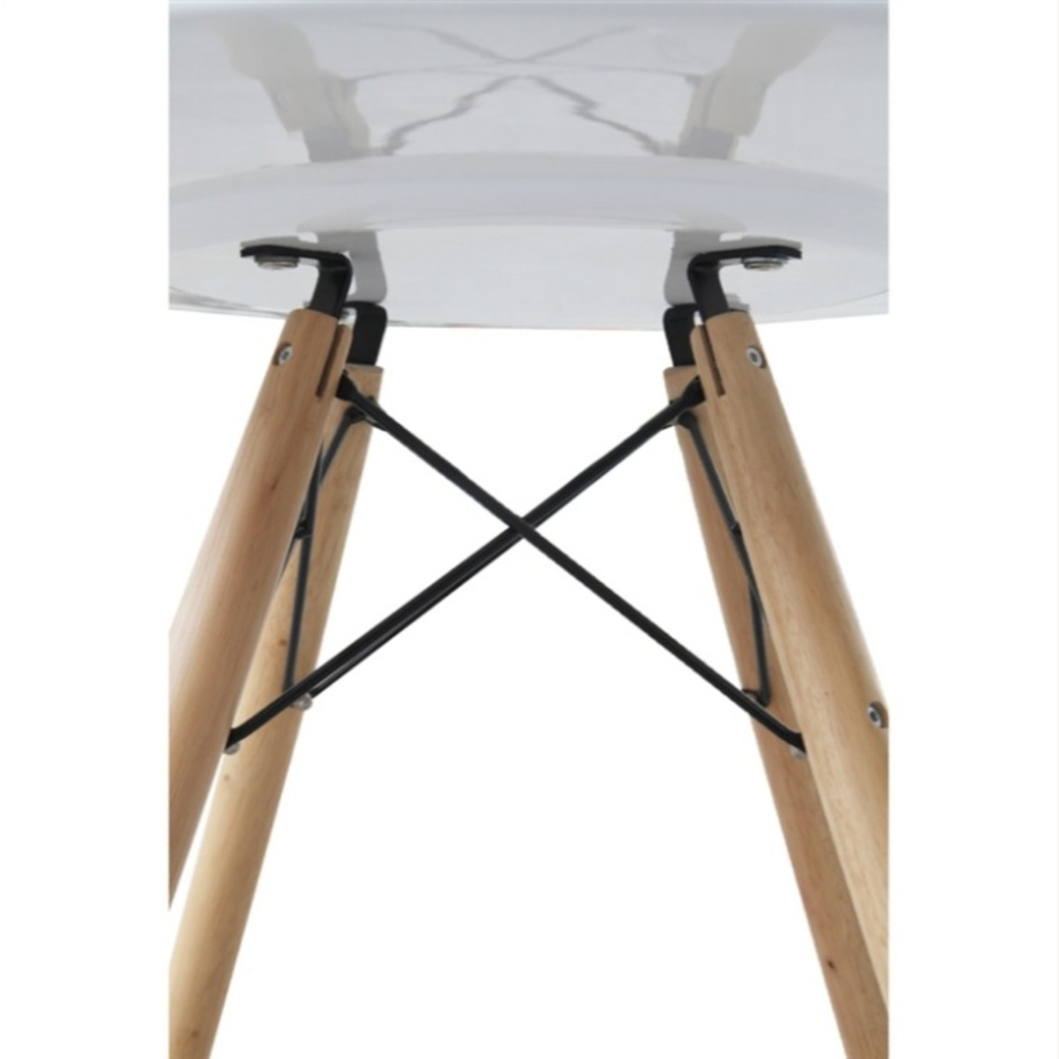 """48"""" Dining Table In White W/ Fiberglass Top - image-3"""