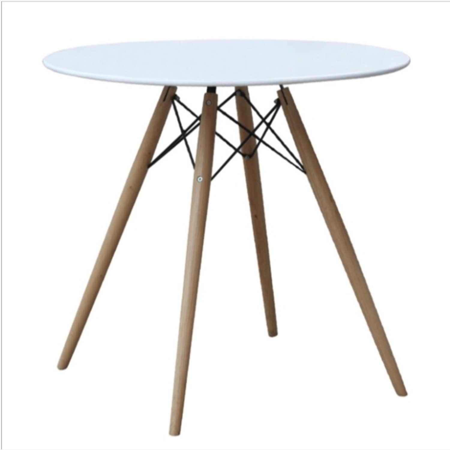 """48"""" Dining Table In White W/ Fiberglass Top - image-1"""