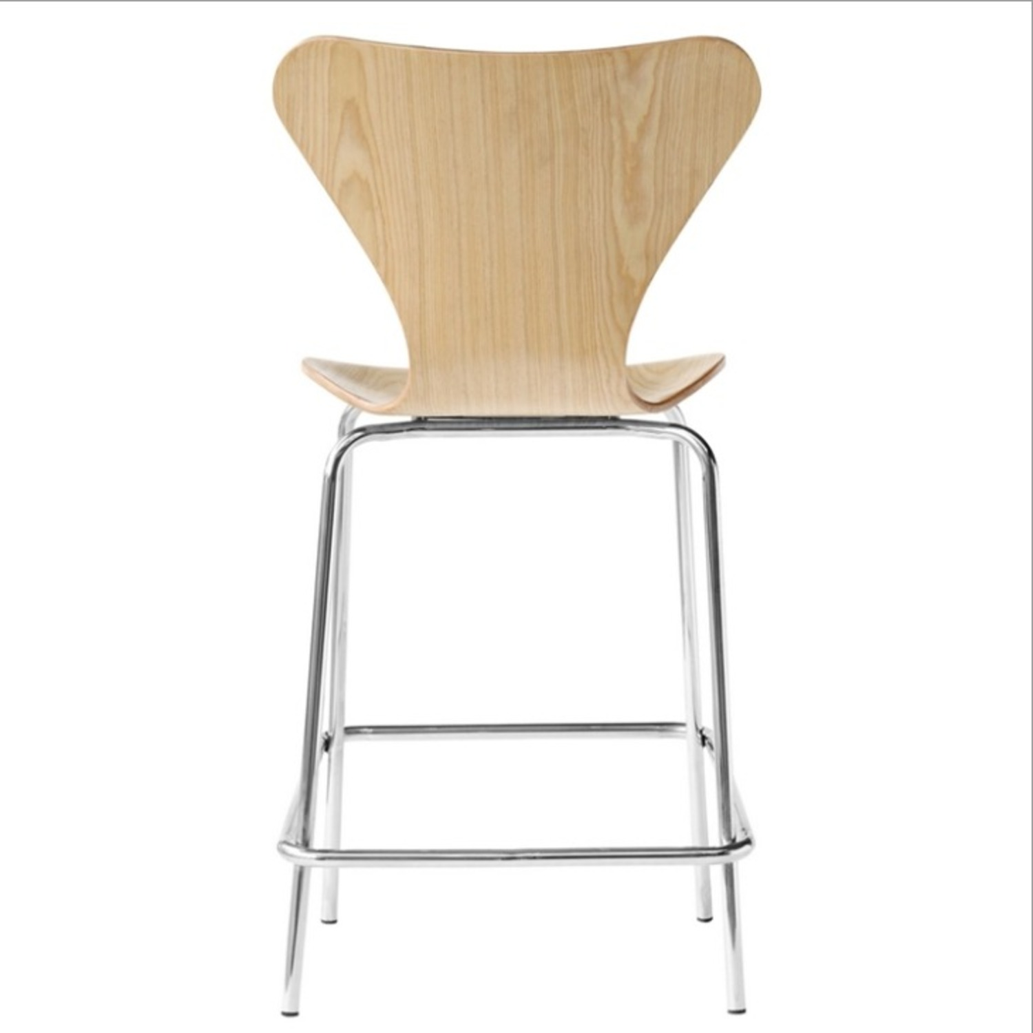 Modern Counter Stool Crafted In Natural Plywood - image-2